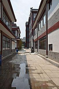十笏园在建仿古商业街道
