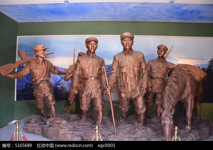 抗日红军的雕塑