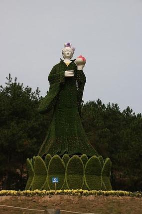 五色草造型-麻姑赐福