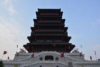 西安古城汉城湖大风阁古建筑
