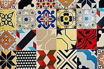 图案花纹陶瓷装饰墙