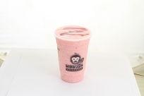 草莓牛奶冰沙
