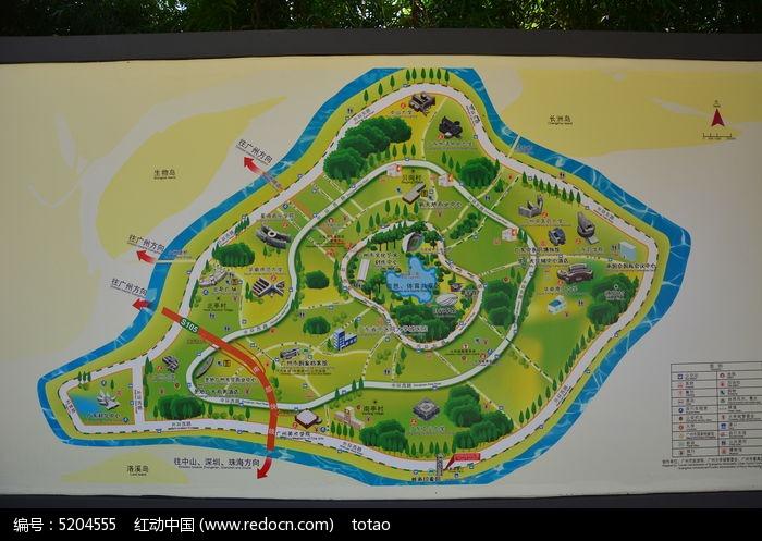 广州岭南印象园旅游地图