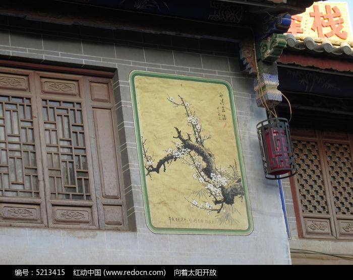 古建筑墙体插画