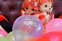 新婚卧室摆设的气球