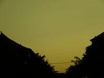 夕阳西下的天空