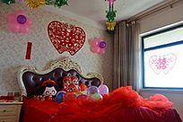 中国新婚卧室全景