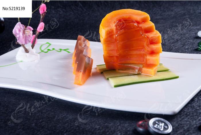 冻木瓜图片,高清大图_中国菜系素材