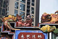 屋檐麒麟雕塑