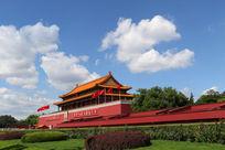 北京中心天安门城楼