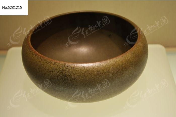 清道光茶叶末釉钵图片