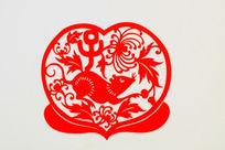 鼠十二生肖剪纸