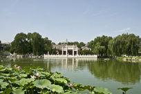 北京大观园荷花池