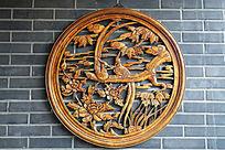 传统木雕花鸟画