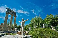 西安世博园风光罗马雕塑