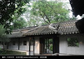 苏州园林古建筑亭廊风光