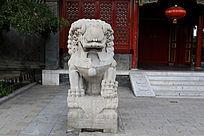 北京大观园的石头狮子
