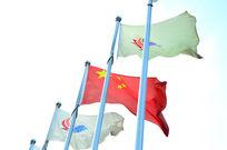 白旗旗杆旗帜彩旗国旗