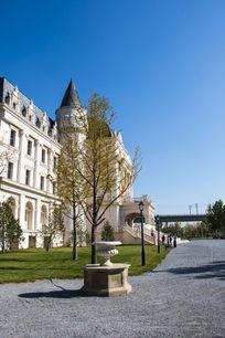 欧洲宫殿侧面