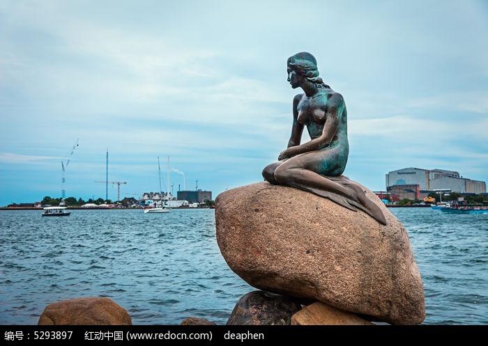 丹麦美人鱼雕塑图片