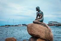 丹麦美人鱼雕塑