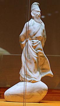 绿釉唐宋人物塑像