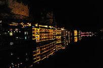 镇远古镇建筑夜色