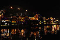 镇远古镇舞阳河灯光景观