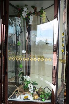酒店高档旋转玻璃自动门