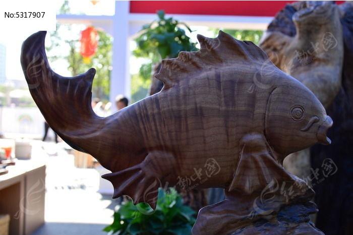 鲤鱼木雕图片,高清大图