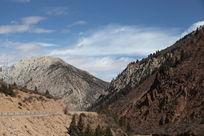 八宿温泉山脉风景