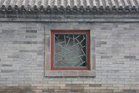 于谦祠围墙青砖墙及装饰窗 素材