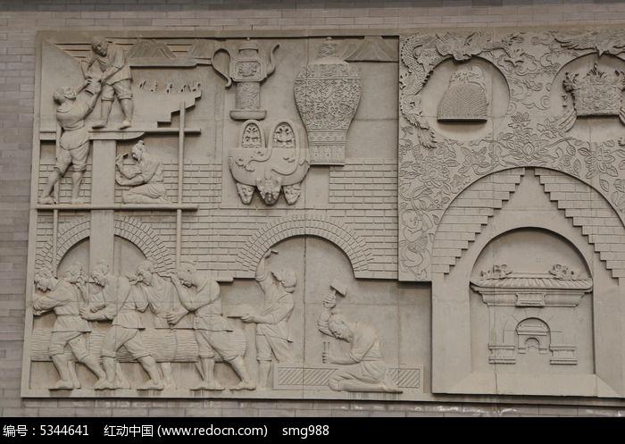 壁刻中国古代文明背景素材图片图片