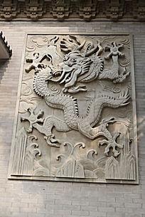 壁刻中国龙飞腾图案