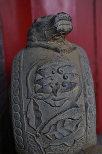 北京民居门墩上的雕花图案