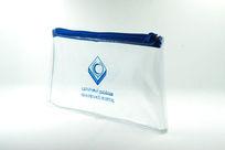 蓝色拉链明片袋