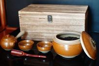 中药罐红茶实木盒包装