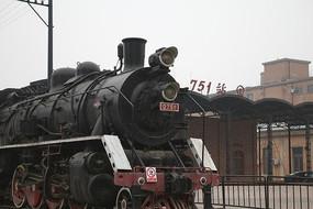 北京798创意园区的火车头和751站