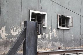 北京798创意园区颓废的墙面