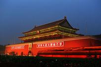 北京天安门城楼夜景