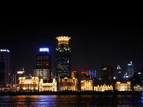 上海外滩黄浦江美丽的夜景
