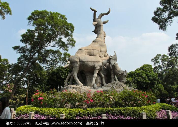广州五羊雕像背侧