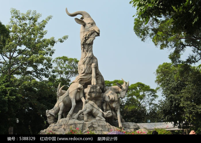 广州越秀山五羊雕像