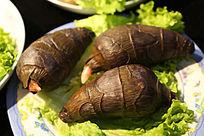 石头做的菜寿山石雕芋头