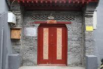 北京民居传统青砖墙大门