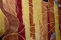 红色精品条花纹理地毯