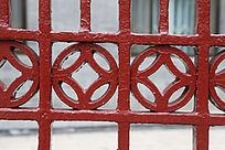 红色铁艺图案