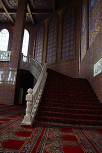 精致的清真寺楼梯建筑