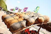 中国古老的交通工具羊皮筏子