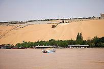 宁夏沙坡头景区全景